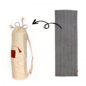 yogamat wol en tas